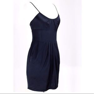 100% silk 7 for all mankind black dress